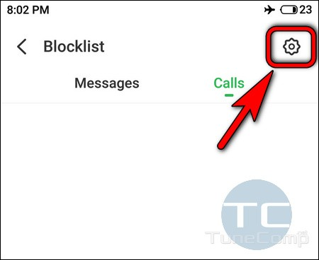 Meizu blocklist settings