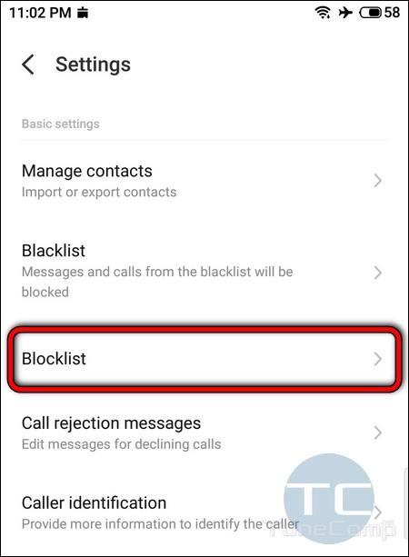 Meizu blocklist