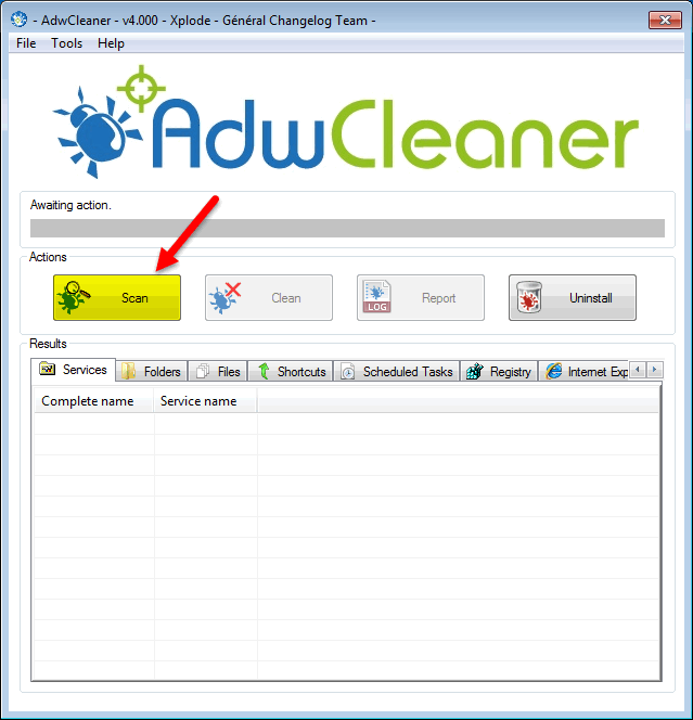 برنامج تنظيف وإزالة البرمجيات الخبيثة والضارة AdwCleaner 7.0.6.0