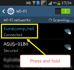 Wireless network name
