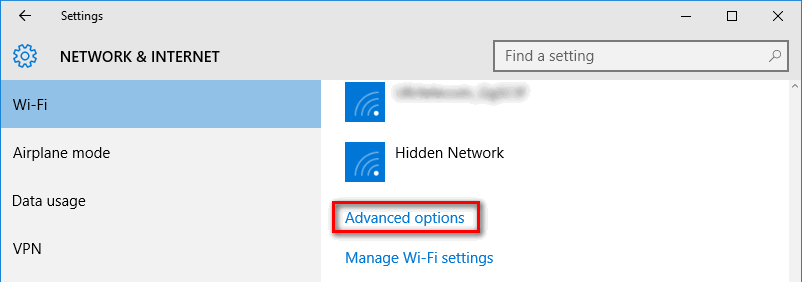 windows 10 forget wireless network