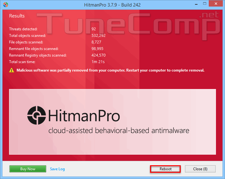 Remove crapware using HitmanPro