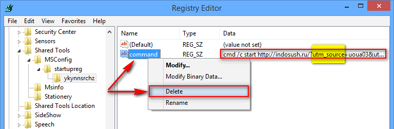 delete time-to-read.ru from the registry