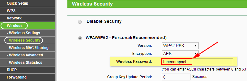 view wifi password router settings