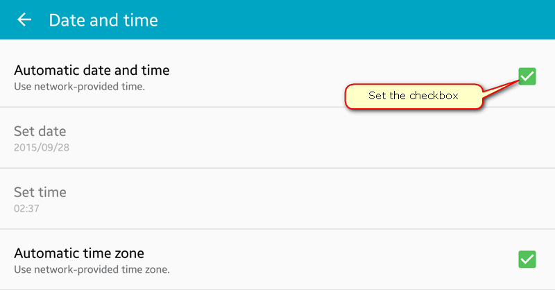 wifi saved secured fix date-time settings