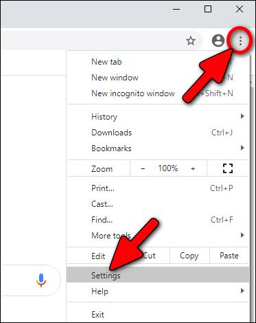 Chrome 86 settings Windows 10