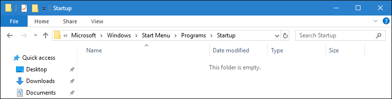 Windows 10 startup folder
