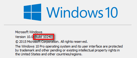 How to view the build number in Windows 10
