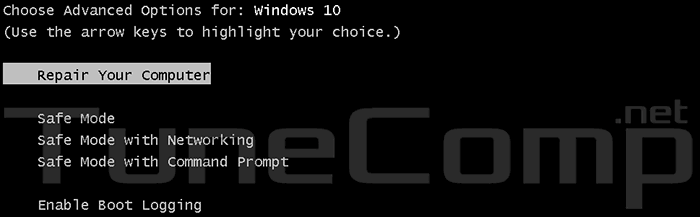 How to get back F8 boot menu in Windows 10