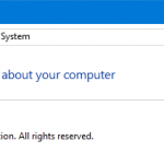 How to enable the system restore in Windows 10