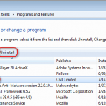 AnySend (a.k.a. ASPackage). How to remove