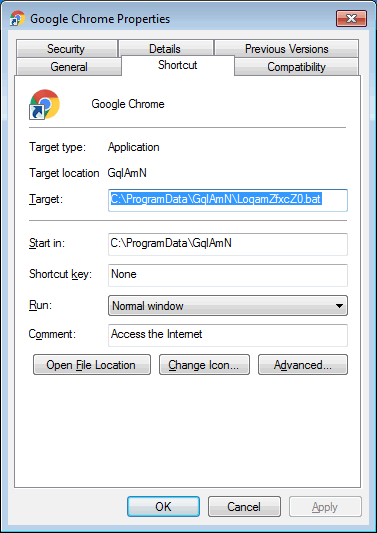 fix browser shortcut