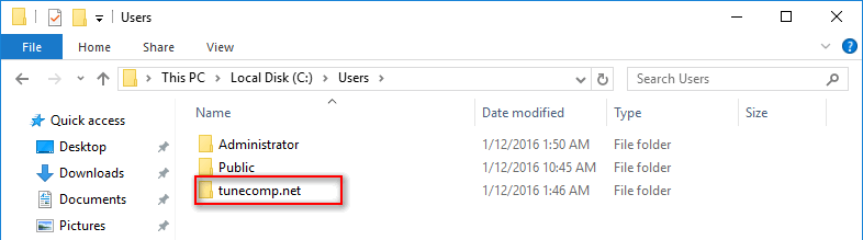 windows 10 rename user profile folder
