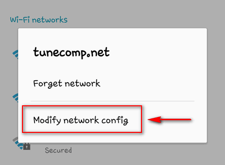 Android modify network config