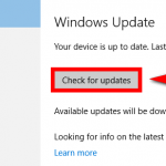 How to manually check for updates in Windows 10