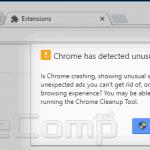 Chrome has detected unusual behavior