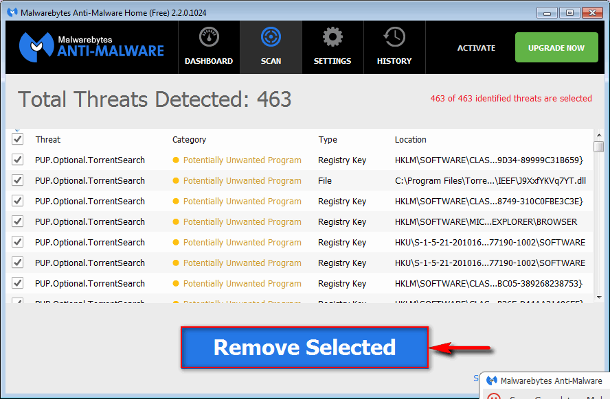 remove GoCoupons using Anti-Malware
