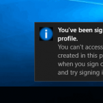 You've been signed in with a temporary profile. How to fix the problem