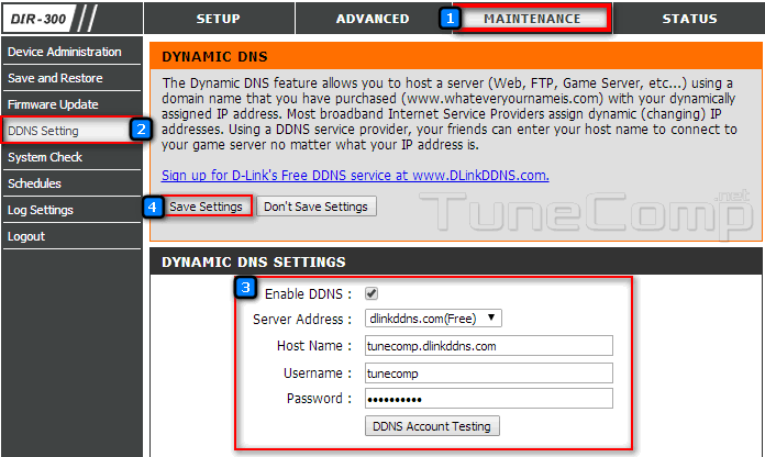 How to set up Dynamic DNS on DLink
