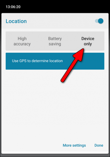 Location Device Only Android 10