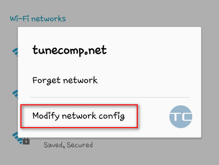 find router ip android: wireless network config