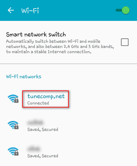 wifi network android