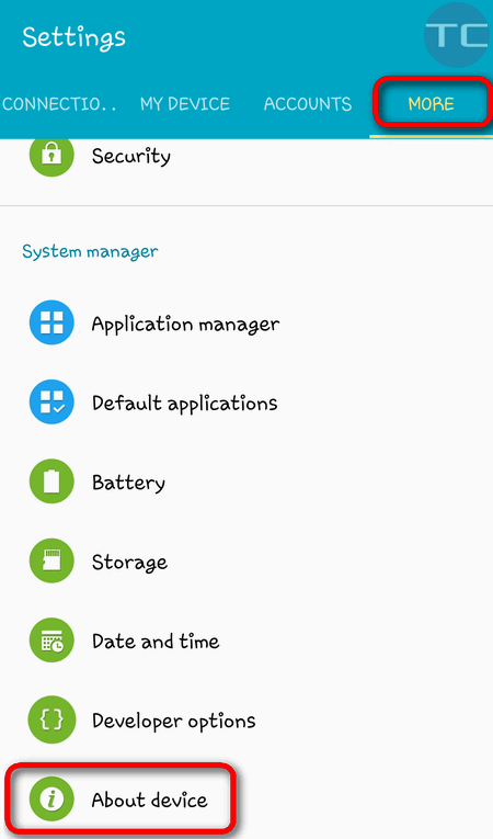 android5 about device