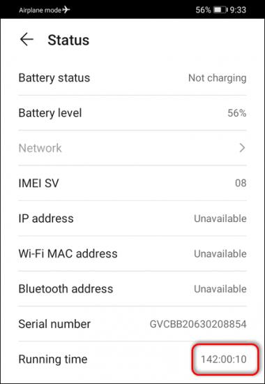 check up time Huawei EMUI 10