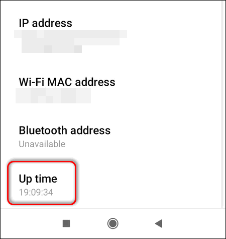 check up time on MIUI 12
