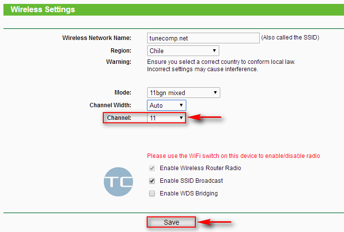wireless channel on router