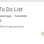 SplenDO: to do list with reminder for Android