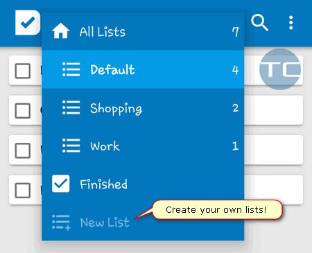 splendo task lists