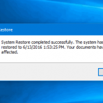How to restore Windows 10 to the previous state using a restore point
