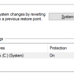 How to enable system protection (system restore) in Windows 10