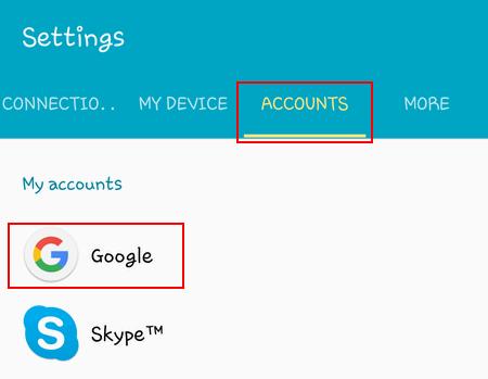 Accounts - Google