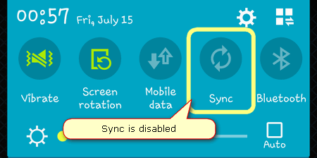 android sync disabled