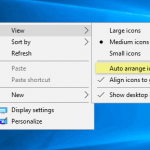 How to undo 'auto arrange icons' and restore the previous icons arrangement