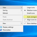 How to undo 'auto arrange icons' and restore the previous icons arrangement