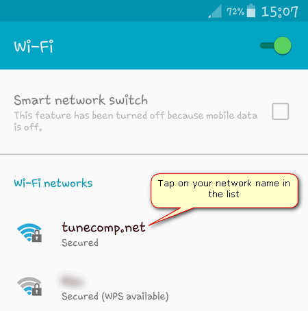 connect to wireless network android 5