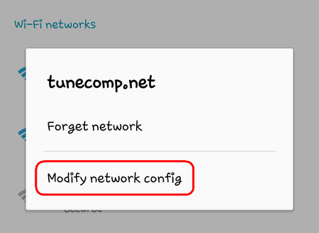 modify network config