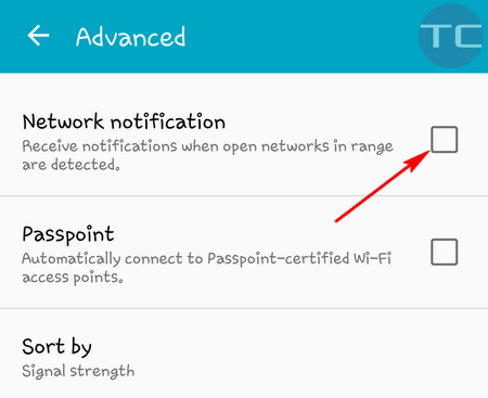 network notification android 5