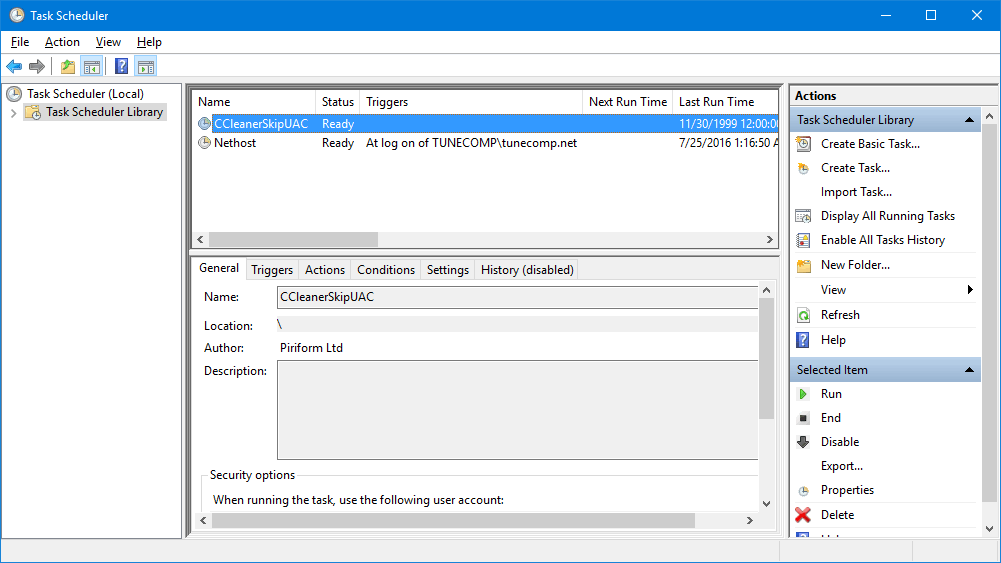 task scheduler in windows 10