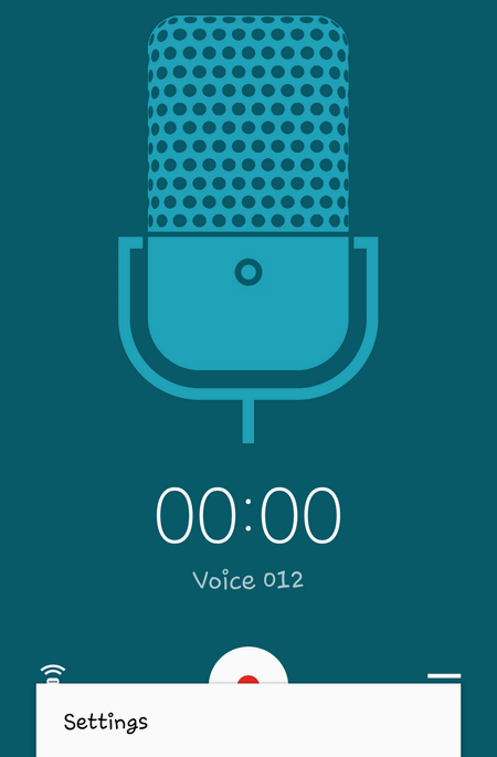 voice recorder settings