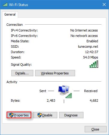 wi-fi status properties