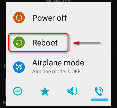 android reboot