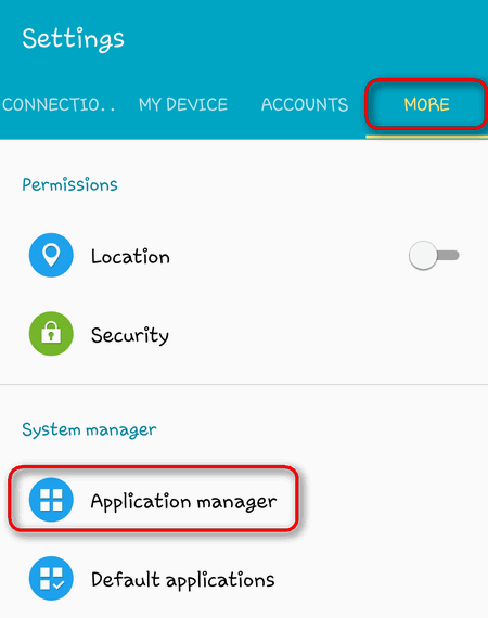 app manager android 5