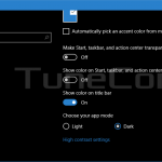 How to Enable the dark theme (dark app mode) in Windows 10 Anniversary Update