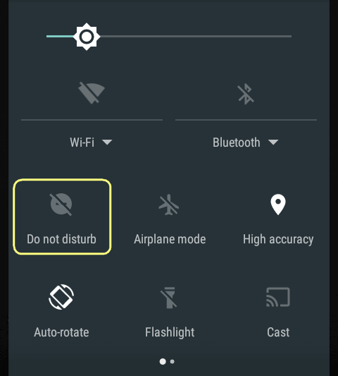 How to set up priority interruptions (do not disturb) on Android 7