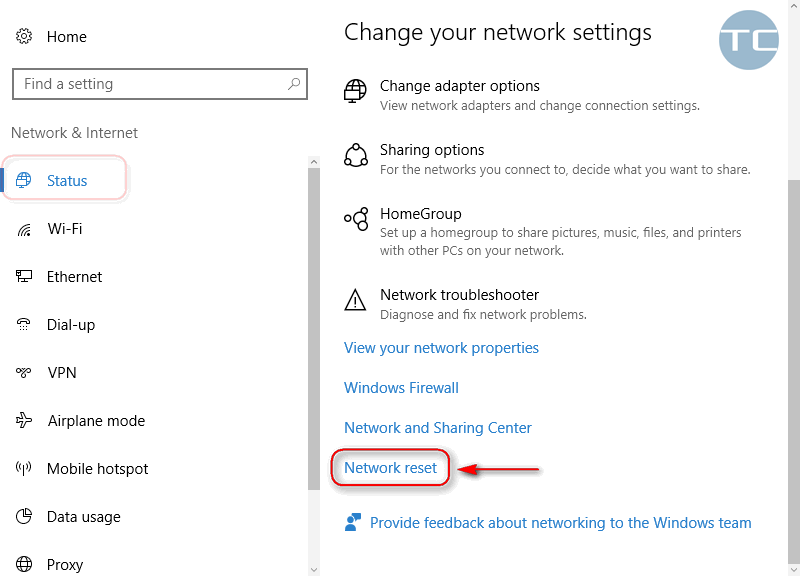 how to reset network drivers windows 10