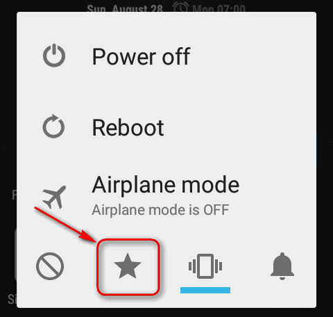 priority only mode power menu